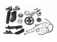 Ремкомплект привода ГРМ ЗМЗ-405,406,409 двухрядная цепь, гидронатяжитель INA (406.3906625-02)