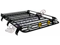 Багажник ВАЗ-2131 сварной с сеткой на 6-ти опорах - платформа